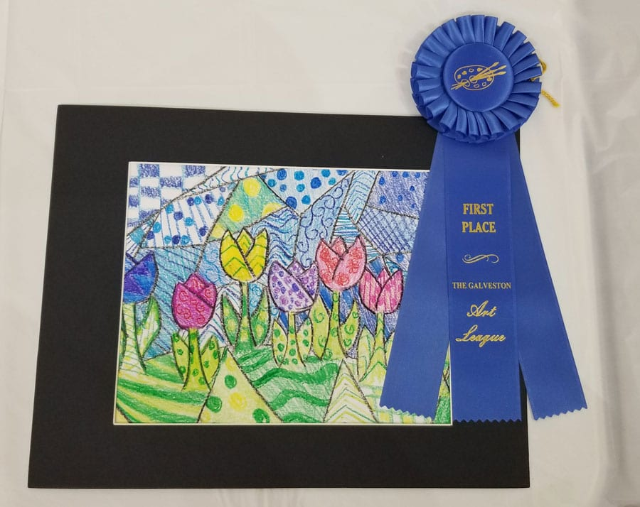 first place galveston art league clara